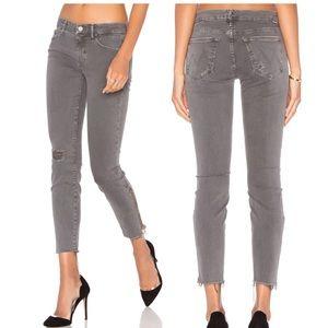 Looker Zip Fray ankle in Granite gray